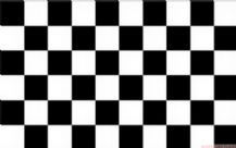 BLACK & WHITE CHECKERED - 8 X 5 FLAG